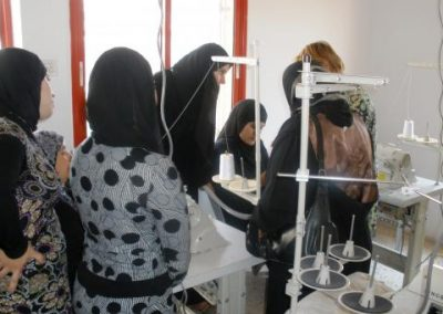 Training rural Palestinian women for their social participation and overcoming poverty through professional training