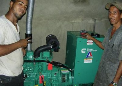 Construction of a power plant to ensure electricity supply to the Children's Stay and Medical Clinic in Bonao