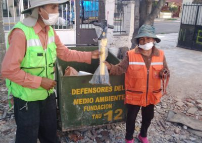 Bolstering the Eco-Collectors' Association Who Strive to Protect the Environment. Comprehensive ecological activity in Cochabamba.