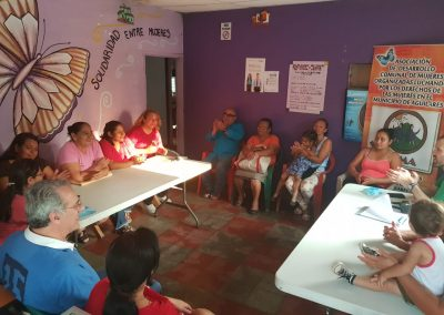 Strengthening organizational, participatory and economic capacities with gender equality of 300 people who are part of 8 Community Development Associations (ADESCOS) of the municipalities Aguilares, El Paisnal and San Pablo Tacachico