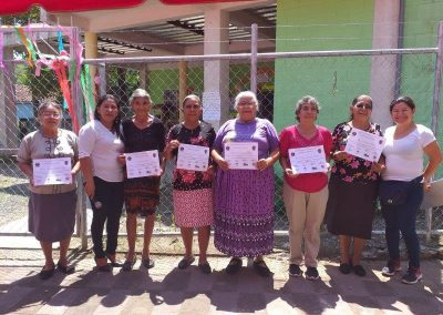Strengthening organizational, participatory and economic capacities with gender equality of 300 people from 8 Community Development Associations (ADESCOS), from Aguilares, El Paisnal and San Pablo Tacachico. Phase II