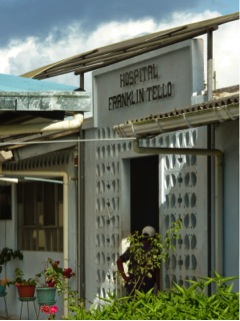Blood gas equipment for COVID patients at Franklin Tello Hospital